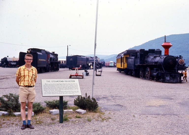 Mark at Steamtown, Bellows Falls, Vermont