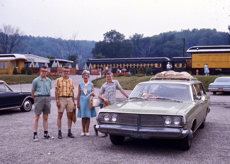 Rick, Mark, Mum, Ken at Steamtown, Bellows Falls, Vermont