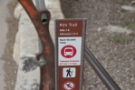 Signs all along the trail